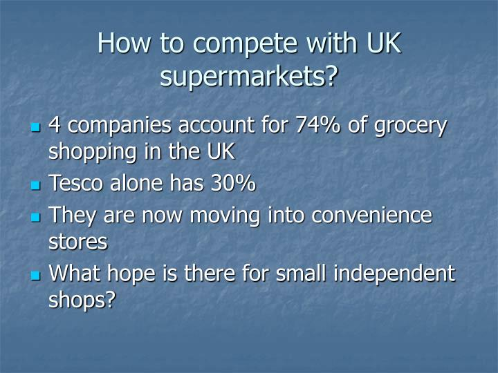 How to compete with UK supermarkets?