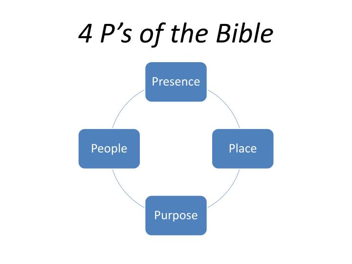 4 P's of the Bible