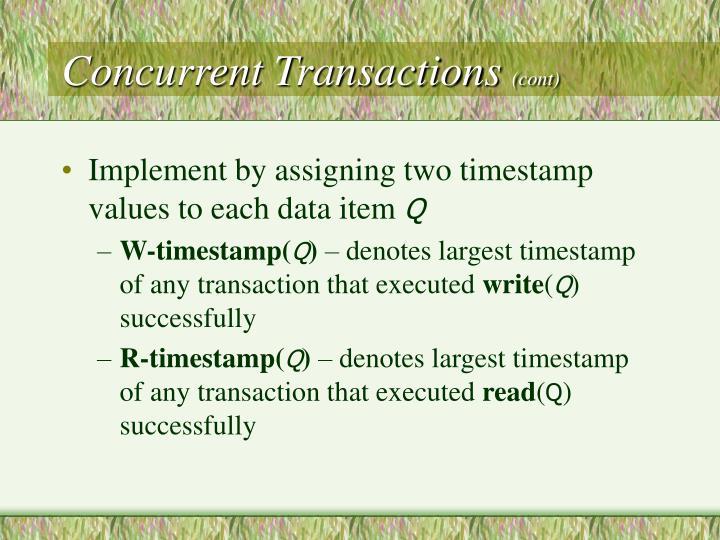 Concurrent Transactions
