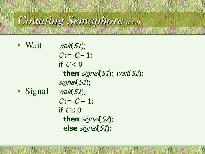 Counting Semaphore