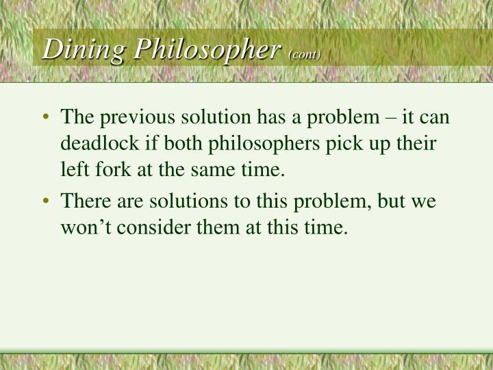 Dining Philosopher