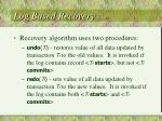 log based recovery cont