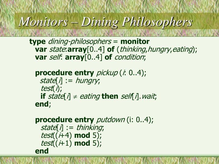 Monitors – Dining Philosophers
