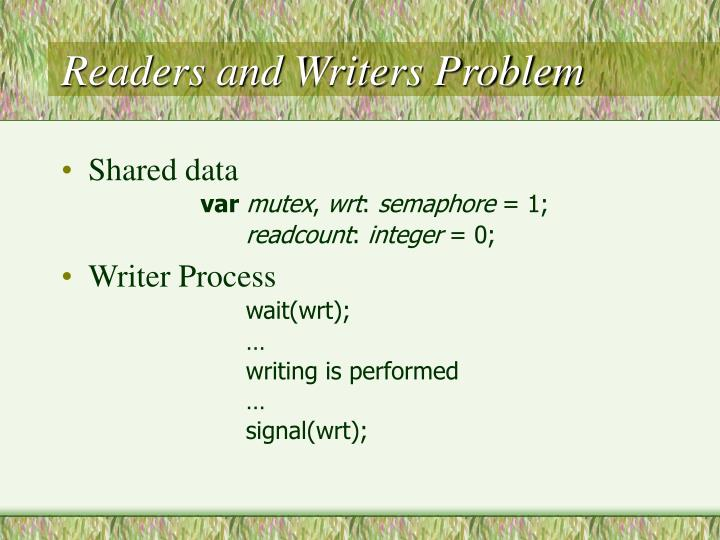 Readers and Writers Problem