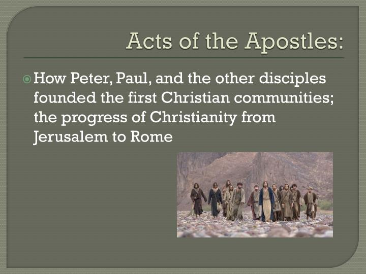 Acts of the Apostles: