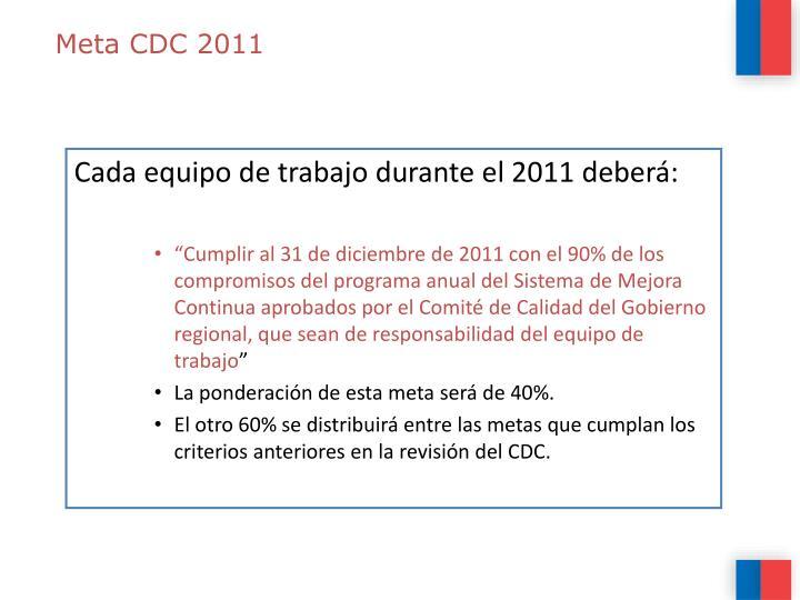 Meta CDC 2011