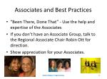 associates and best practices