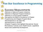 five star excellence in programming