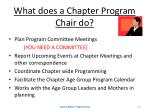 what does a chapter program chair do