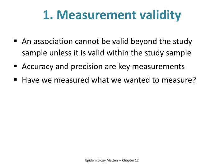1. Measurement validity