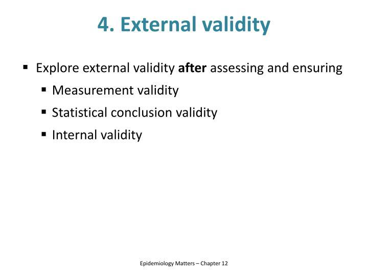 4. External validity