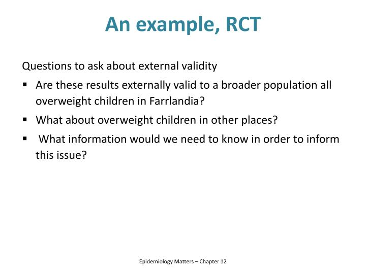 An example, RCT