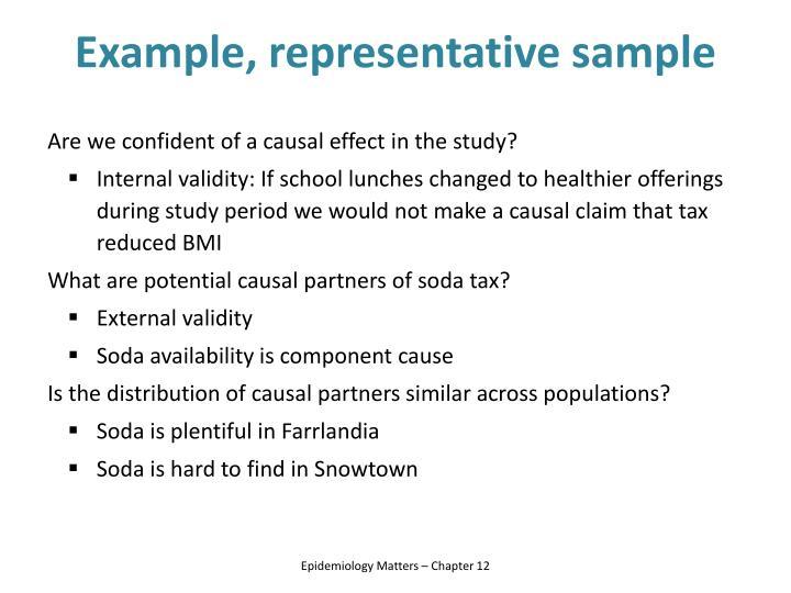 Example, representative sample