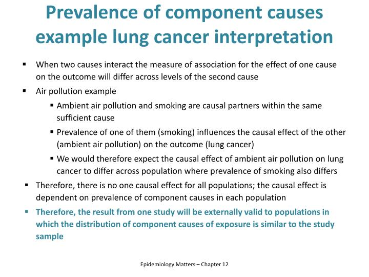 Prevalence of component causes