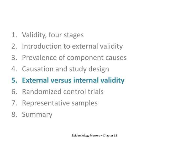 Validity, four stages