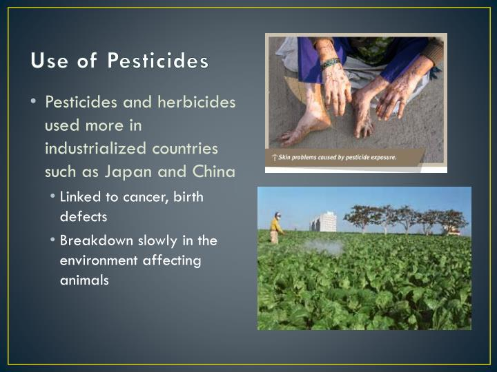 Use of Pesticides