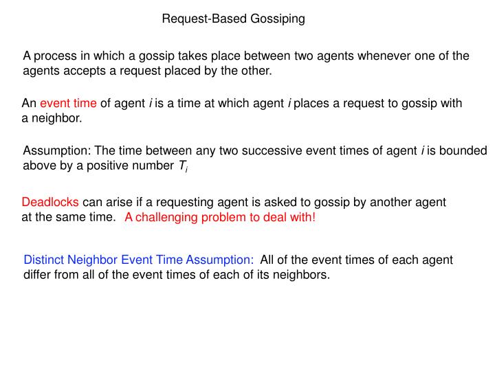 Request-Based Gossiping