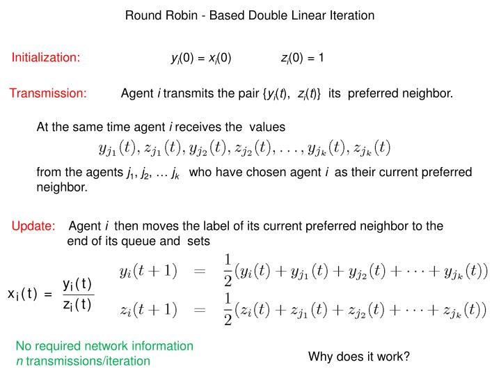 Round Robin - Based Double Linear Iteration