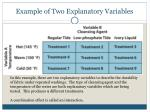 example of two explanatory variables