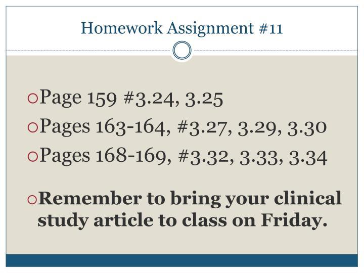 Homework Assignment #11