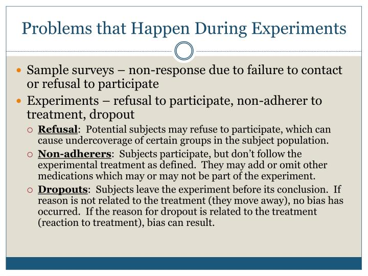 Problems that Happen During Experiments