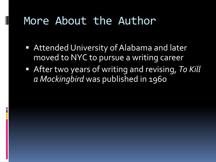 More About the Author