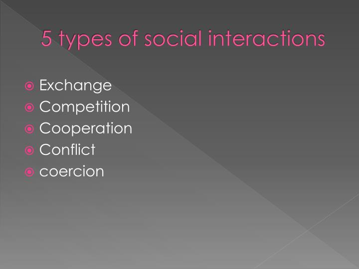 5 types of social interactions