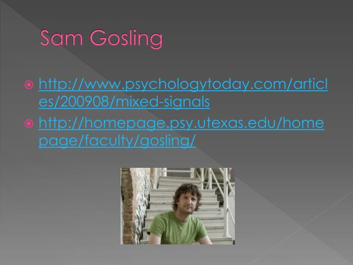 Sam Gosling