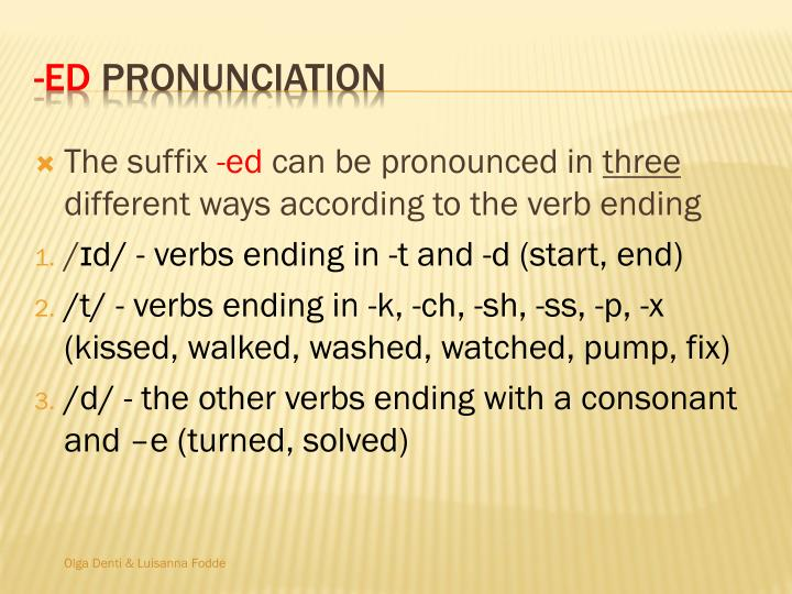 The suffix