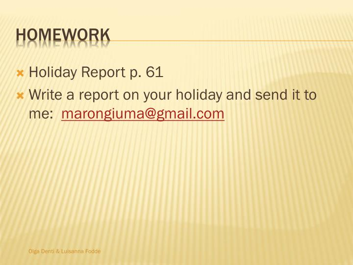 Holiday Report p