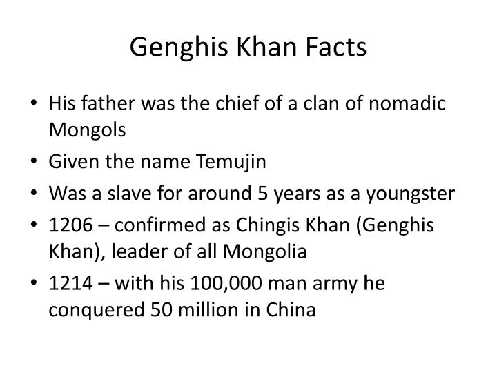 Genghis Khan Facts