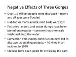 negative effects of three gorges