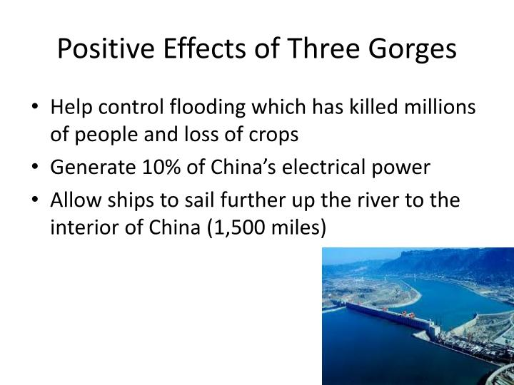 Positive Effects of Three Gorges