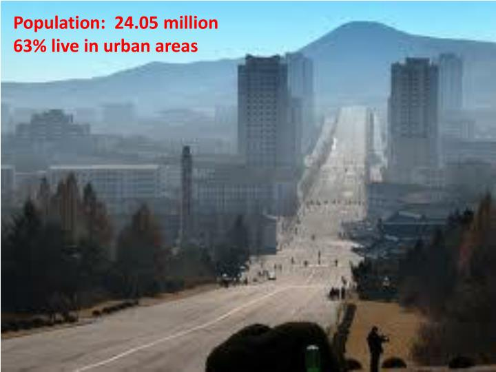 Population:  24.05 million