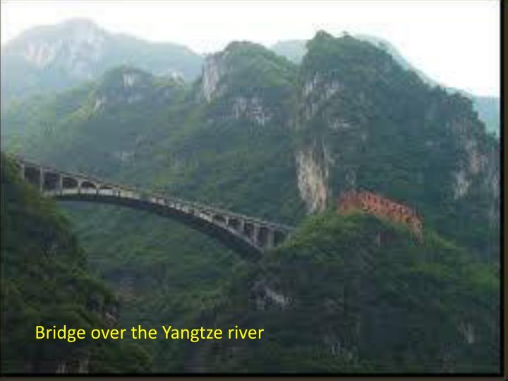 Bridge over the Yangtze river