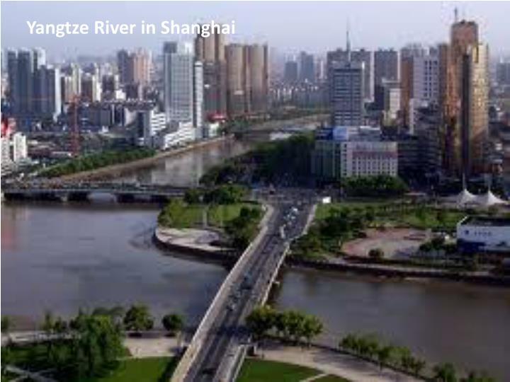 Yangtze River in Shanghai
