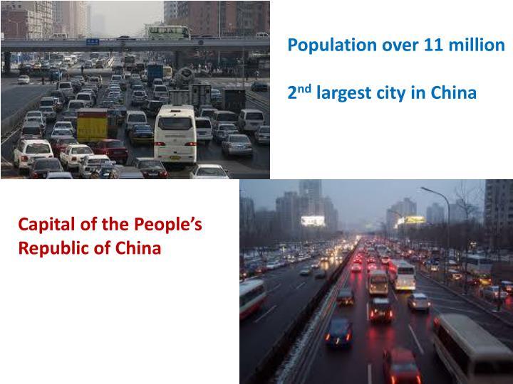 Population over 11 million