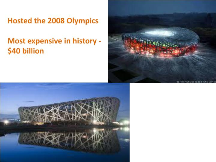 Hosted the 2008 Olympics
