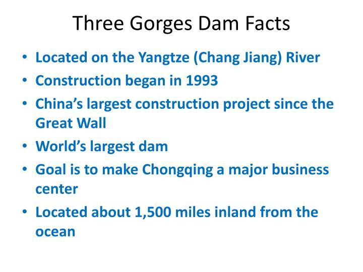 Three Gorges Dam Facts