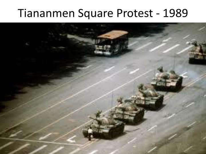 Tiananmen Square Protest - 1989