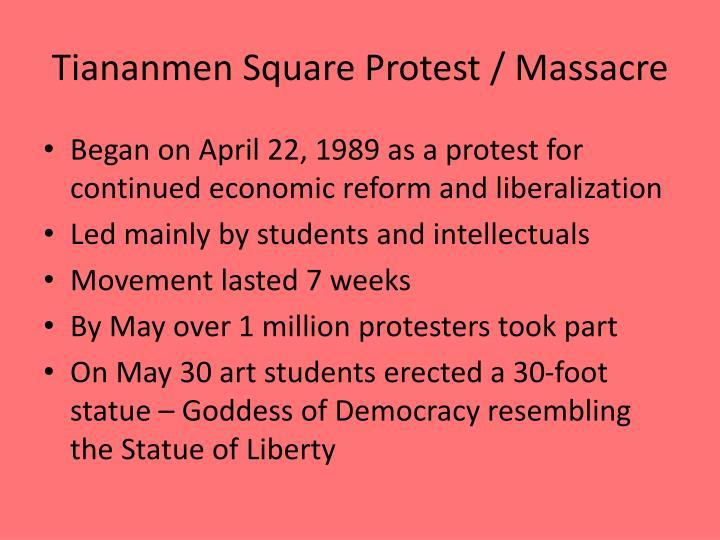 Tiananmen Square Protest / Massacre