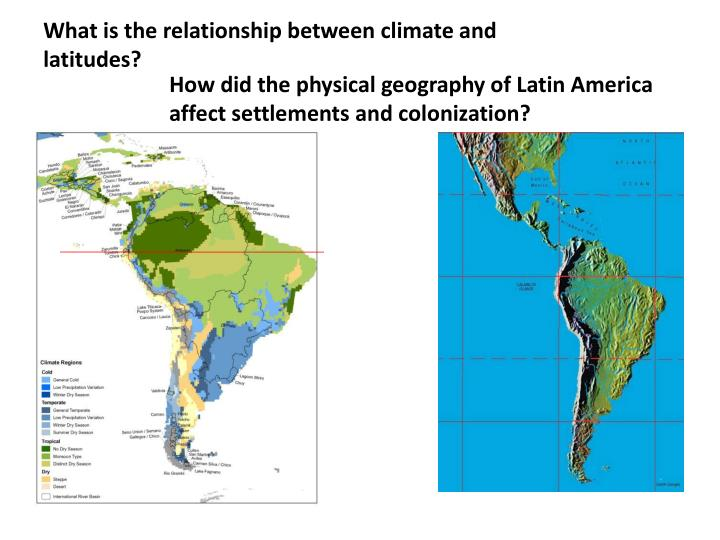 What is the relationship between climate and latitudes?