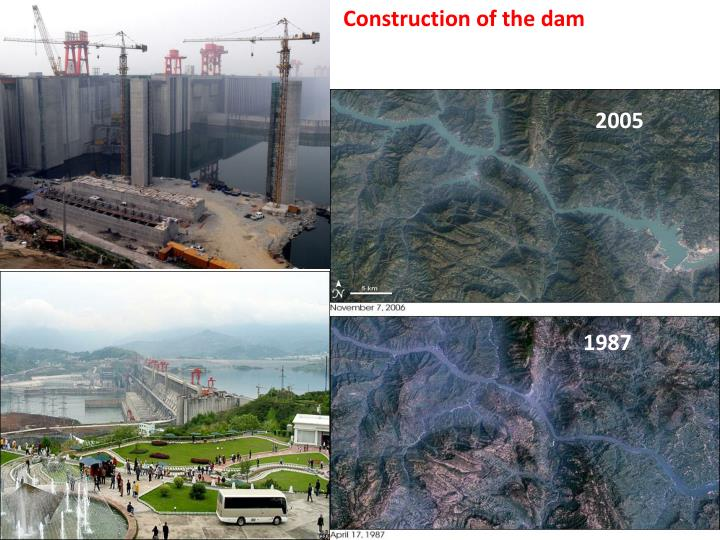 Construction of the dam