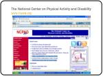 the national center on physical activity and disability www ncpad org