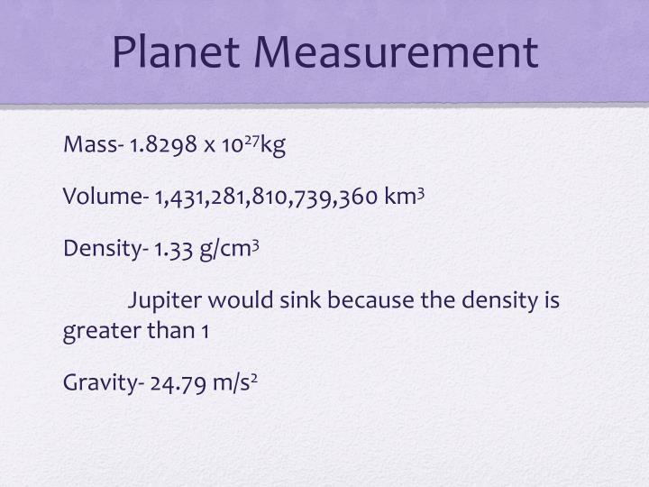 Planet Measurement