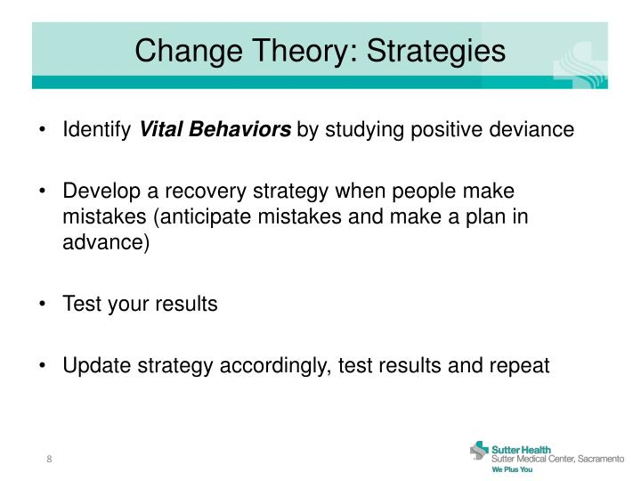 Change Theory: Strategies