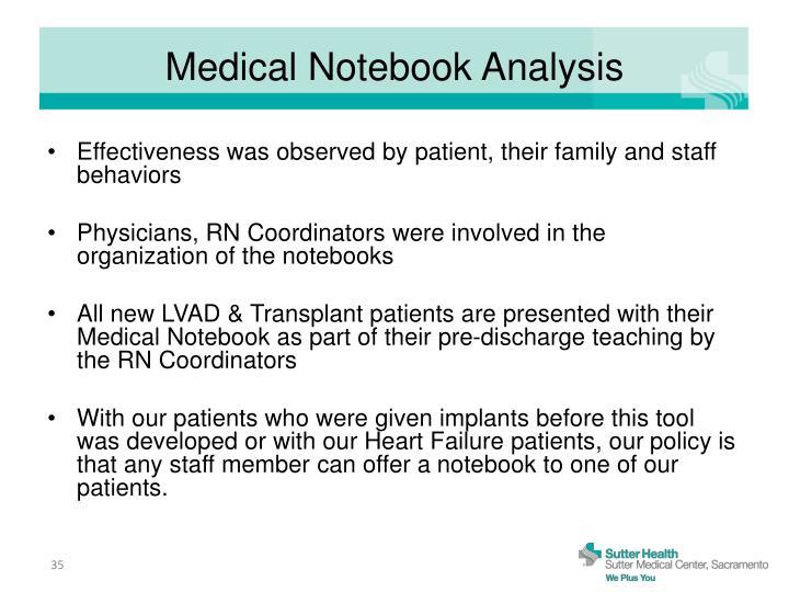 Medical Notebook Analysis