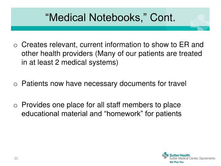 """Medical Notebooks,"""