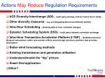 actions may reduce regulation requirements