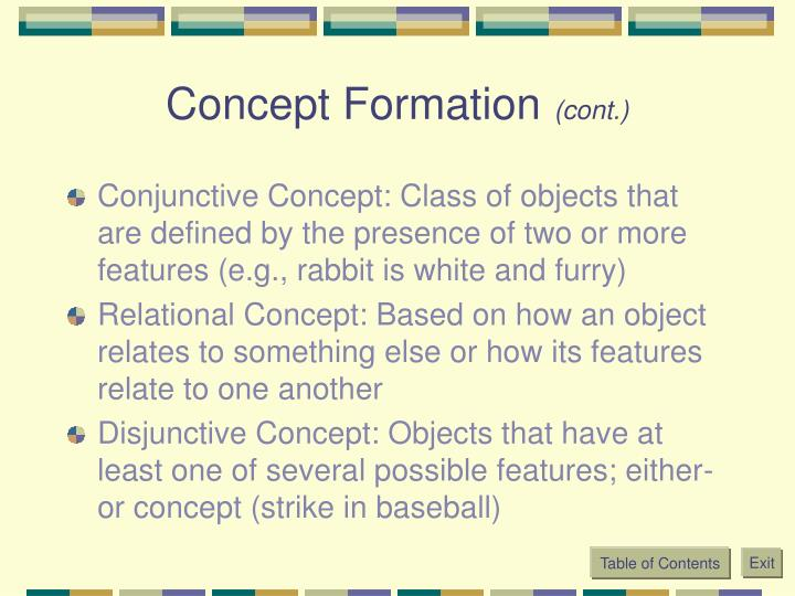 Concept Formation